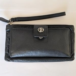 Handbags - Genuine Leather Black wristlet wallet